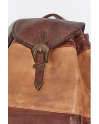Free People - Brown Seville Leather Backpack - Lyst