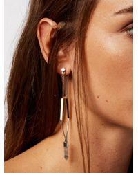 Free People | Metallic Caged Crystal Earrings | Lyst