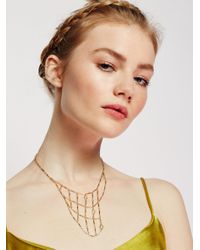 Free People | Metallic Caged Guardian Opal Collar | Lyst