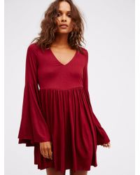 Free People | Red Camilla Dress | Lyst