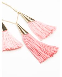 Free People - Pink Carlotta Tassel Earrings - Lyst