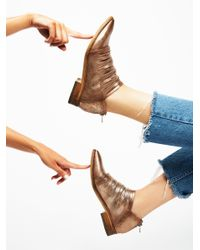 Free People - Black Lost Valley Ankle Boot - Lyst