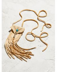 Free People - Multicolor Accessories Designer Jewelry Turquoise & Leather Medicine Bag Necklace - Lyst