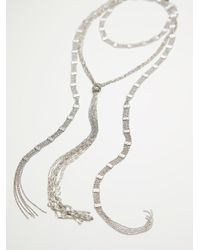 Free People - Metallic Chain Wrap Scarf Necklace - Lyst