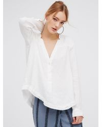 Free People | White Changing Horizons Pullover | Lyst