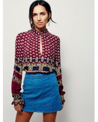 Free People | Red Changing Times Stripe Print Tunic | Lyst