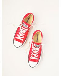 Free People - Red Charlie Converse - Lyst