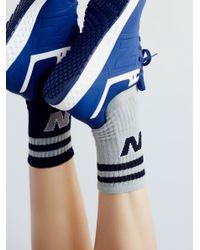 Free People | Gray Classic New Balance Sock | Lyst