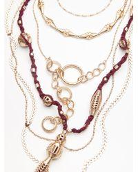 Free People - Metallic Coastal Storm Layered Necklace - Lyst