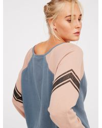 Free People - Blue College Dreamin' Pullover - Lyst
