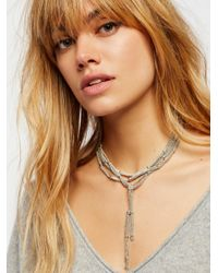 Free People   Multicolor Cora Chain Wrap Scarf Necklace   Lyst