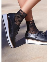 Free People | Black Count Your Stars Net Anklet | Lyst