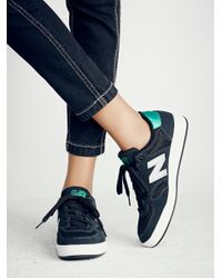 Free People - Black Court Trainer - Lyst