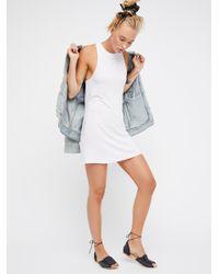 Free People - White Mock Me Mini Dress - Lyst