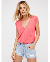 Free People - Pink Tees For My Jeans Bodysuit - Lyst