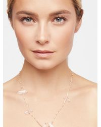 Free People - Natural Quartz Point Healing Necklace - Lyst
