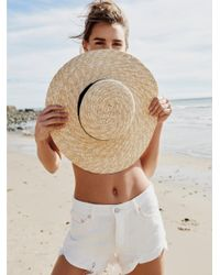 Free People | Au Natural Straw Visor | Lyst