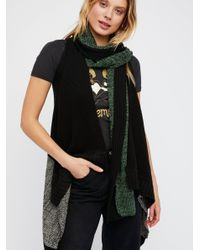 Free People - Black Knit Wit Patchwork Sweater Vest - Lyst