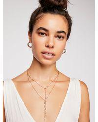 Free People - Metallic Winnie Raw Stone Delicate Bolo Necklace - Lyst