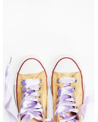 Free People | Purple Dance Moves Hi Top Chucks | Lyst