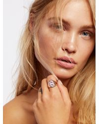 Free People | Pink Stone Signet Ring | Lyst