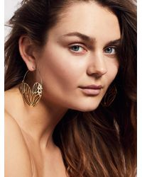 Free People | Multicolor Deco Statement Hoops | Lyst