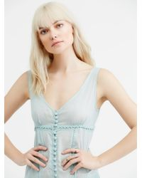 Free People - Blue Victoria Buttonfront Maxi - Lyst