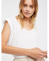 Free People - White We The Free Cleo Tee - Lyst
