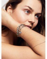 Free People | Metallic Delicate Chain Multi Cuff | Lyst