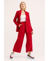 Free People - Red Portia Suit By Lost + Wander - Lyst