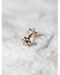 Free People - Pink Diamond Flower Helix Stud - Lyst