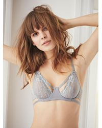 Free People | Gray Dream Of Me Underwire Bra Dream Of Me High Waisted Undie Dream Of Me Thong | Lyst