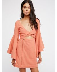 Free People | Orange Dreamin About This Mini Dress | Lyst