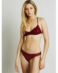 Free People - Red Dreams Come True Thong - Lyst