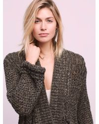 Free People | Blue Dupree Cardi | Lyst
