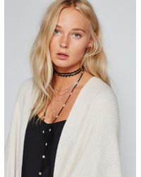 Free People - Black Dylana Delicate Leather Bolo - Lyst