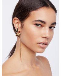 Free People - Brown Paradise Crystal Earrings - Lyst