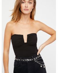 Free People - Black Falling For You Tube Top - Lyst