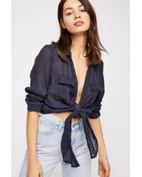 Free People - Blue Fp One Lana Knot Top - Lyst