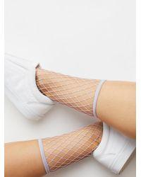 Free People - Multicolor Sugar Sugar Fishnet Anklet - Lyst