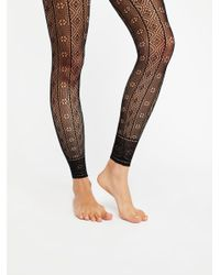 Free People | Black Rio Footless Tight | Lyst