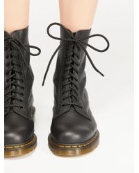 Free People - Black 1490 10 Eye Lace-up Boot - Lyst