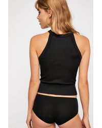 Free People - Black Wide Rib Seamless Cami By Intimately - Lyst
