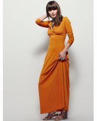 Free People   Orange El Topo Dress   Lyst