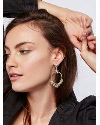 Free People | Metallic Esperanza Coronation Hoop Earrings | Lyst
