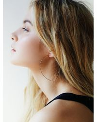 Free People | Pink Essential Hoop Earring | Lyst