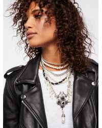 Free People - Metallic Girl In The Pearls Statement Necklace - Lyst