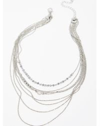 Free People - Metallic Siene Tiered Necklace - Lyst