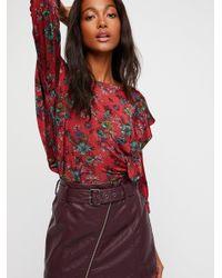 Free People - Purple Feelin' Fresh Vegan Skirt - Lyst