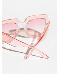 Free People - Pink Boogie All Night Sunglasses - Lyst